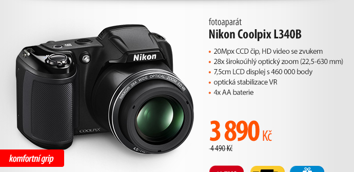 Fotoaparát Nikon Coolpix L340B