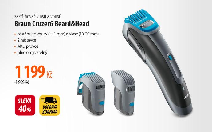 Zastřihovač vlasů a vousů Braun Cruzer6 Beard&Head