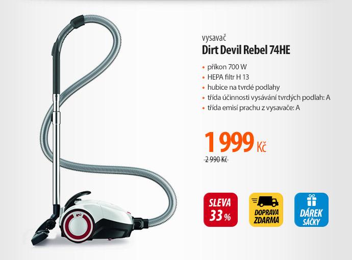 Vysavač Dirt Devil Rebel 74HE
