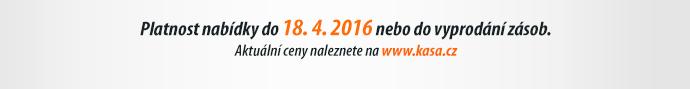 Platnost nabídky do 18. 4. 2016 nebo do vyprodání zásob.
