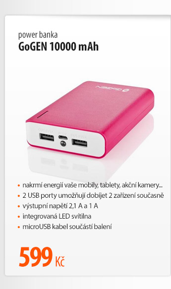 Power banka GoGen 10000 mAh