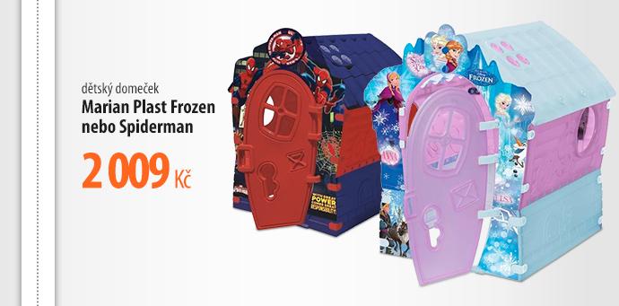 Dětský domeček Marion Plast Frozen/Spiderman