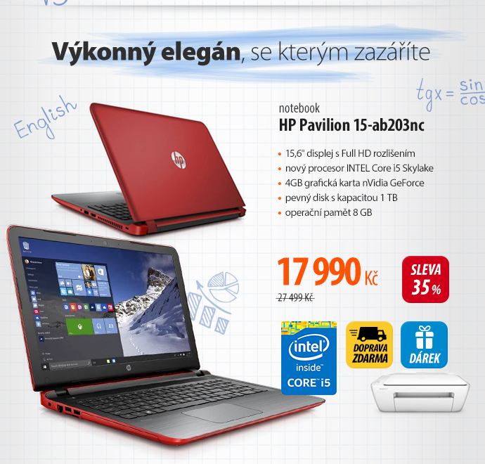 Notebook HP Pavilon 15-ab203nc