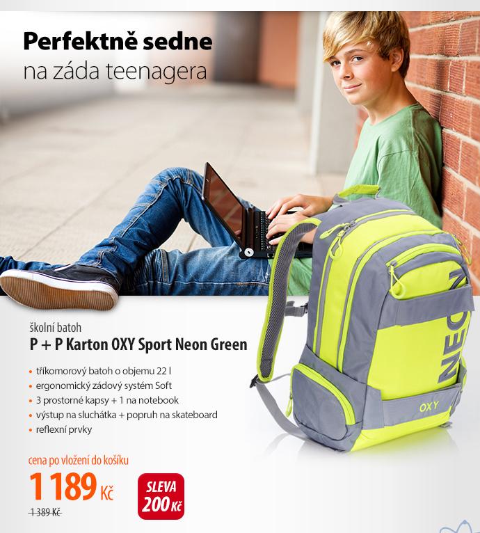 Školní batoh P + P Katon OXY Sport Neon