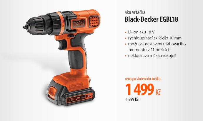 Aku vrtačka Black-Decker EGBL18