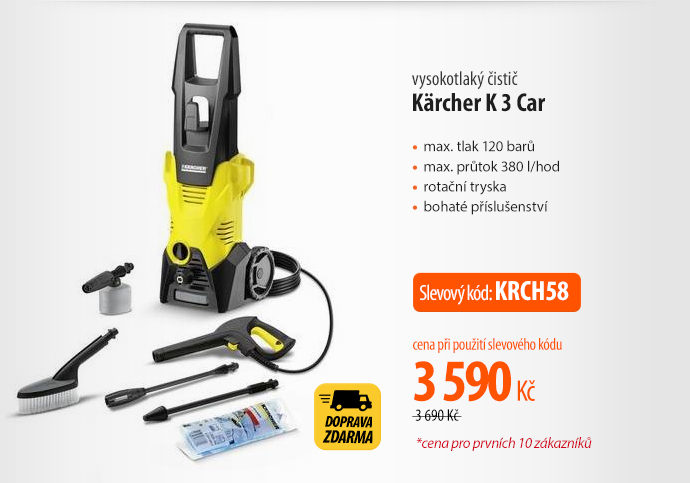 Vysokotlaký čistič Kärcher K 3 Car