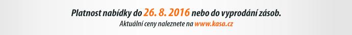 Platnost nabídky do 26. 8. 2016 nebo do vyprodání zásob.