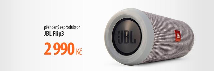 Přenosný reproduktor JBL Flip3 šedé