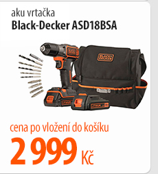 Aku vrtačka Black-Decker ASD18BSA