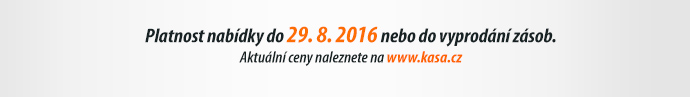 Platnost nabídky do 29. 8. 2016 nebo do vyprodání zásob.