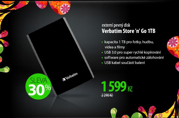 Externí pevný disk Verbatim Store 'n' Go 1TB