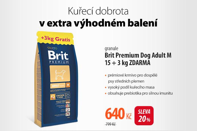Granule Brit Premium Dog Adult M 15kg