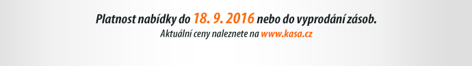 Platnost nabídky do 18. 9. 2016 nebo do vyprodání zásob.