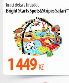 Hrací deka s hrazdou Bright Starts Spots a Stripes Safari