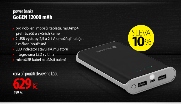 Power banka GoGen 12000 mAh