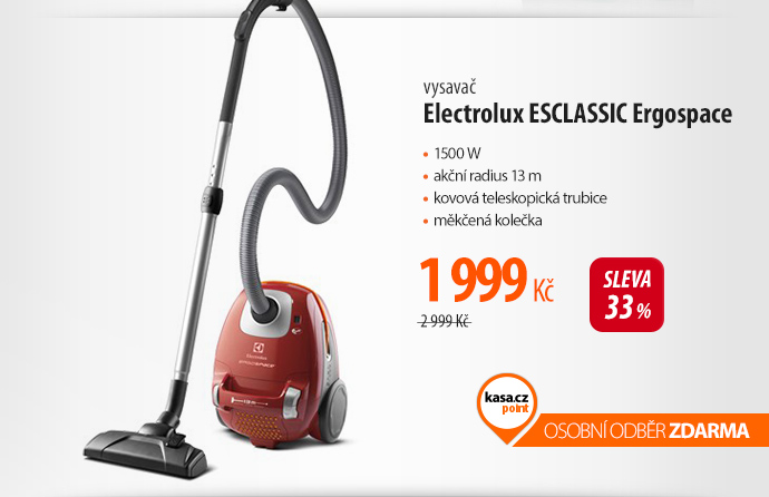 Vysavač Electrolux ESCLASSIC Ergospace