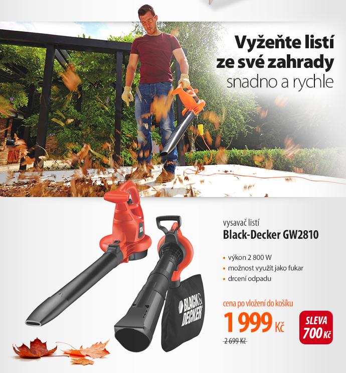 Vysavač listí Black-Decker QW2810