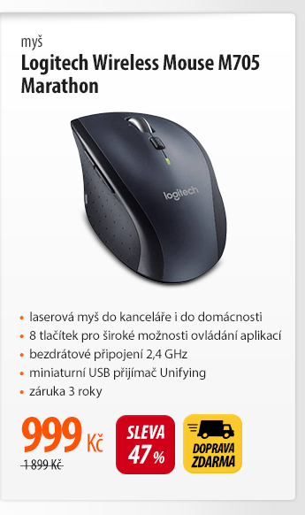 Myš Logitech Wireless Mouse M705 Marathon