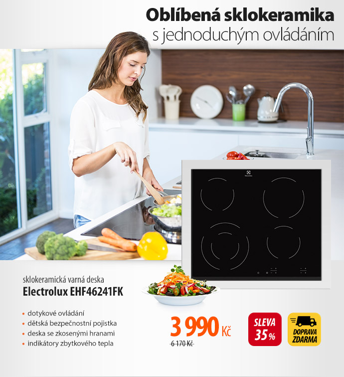 Sklokeramická varná deska Electrolux EHF46241FK