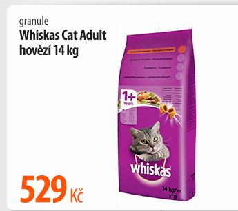Granule Whiskas Cat Adult hovězí