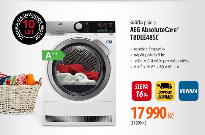Sušička prádla AEG AbsoluteCare T8DEE48SC
