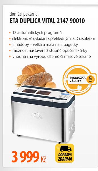 Domácí pekárna ETA Duplica Vital 2147 90010