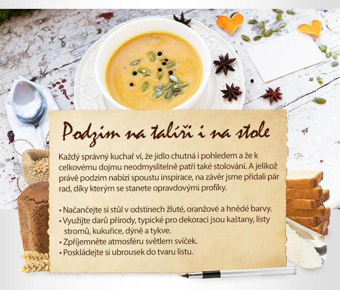 Podzim na talíři i na stole