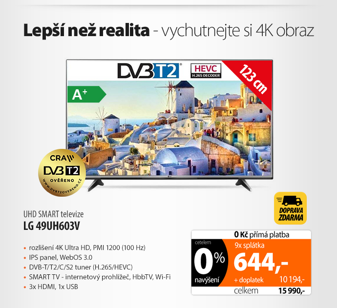 UHD Smart TV LG 49UH603V