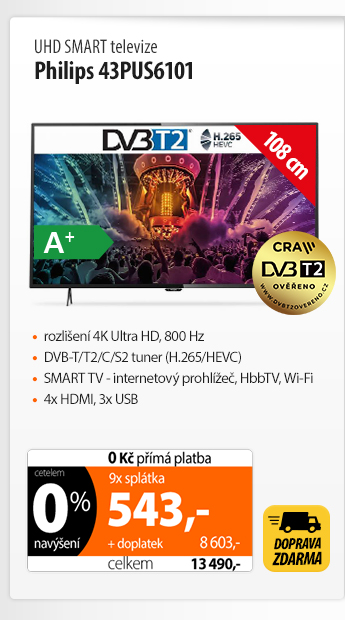 UHD Smart TV Philips 43PUS6101
