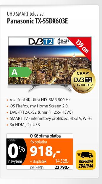 UHD Smart TV Panasonic TX-55DX603E