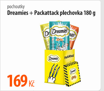 Pochoutky Dreamies Packattack