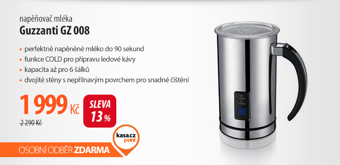 Napěňovač mléka Guzzanti GZ 008