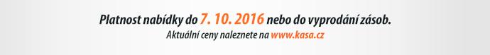 Platnost nabídky do 7. 10. 2016 nebo do vyprodání zásob.