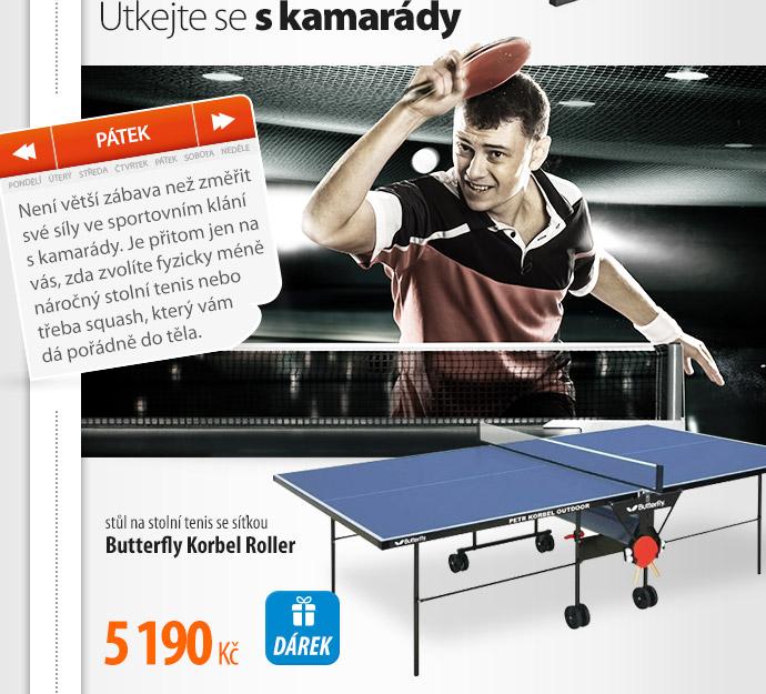 Stůl na stolní tenis Butterfly Korbel Roller
