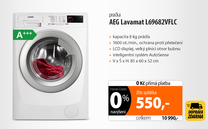 Automatická pračka AEG Lavamat L69682VFLC