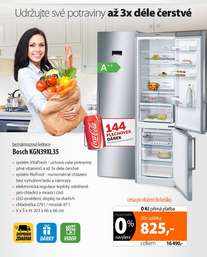 Kombinace chladničky s mrazničkou Bosch KGN39XL35 Inoxlook