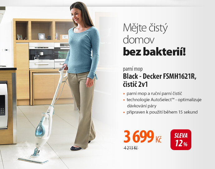 Parní mop Black - Decker FSMH1621R