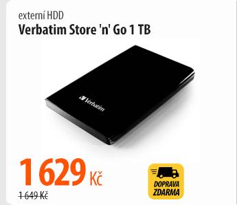 Externí HDD Verbatim Store 'n' Go 1 TB