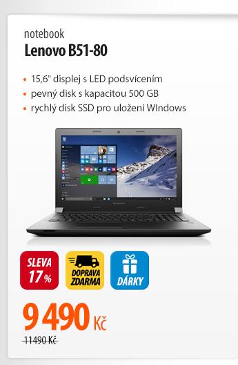 Notebook Lenovo B51-80
