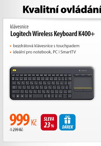 Klávesnice Logitech Wireless K400+