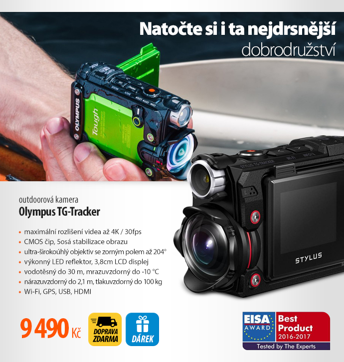 Outdoorová kamera Olympus TG-Tracker
