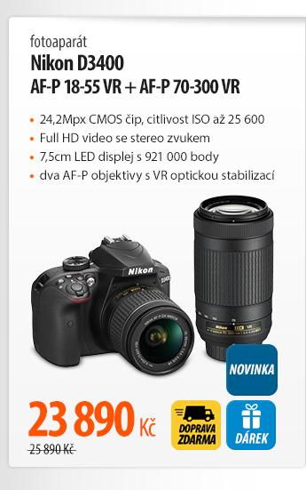 Fotoaparát Nikon D3400 AF-P 18-55 VR