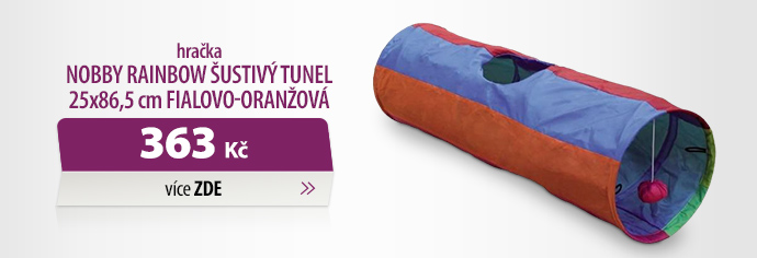 Hračka Nobby Rainbow šustivý tunel