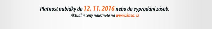 Platnost nabídky do 12. 11. 2016 nebo do vyprodání zásob.