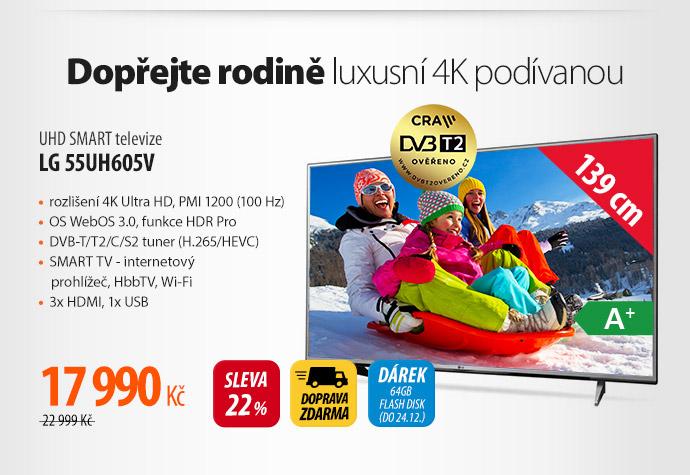 UHD Smart TV LG 55UH605V
