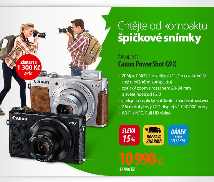 Fotoaparát Canon PowerShot G9 X