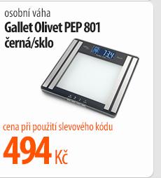 Osobní váha Gallet Olivet PEP 801