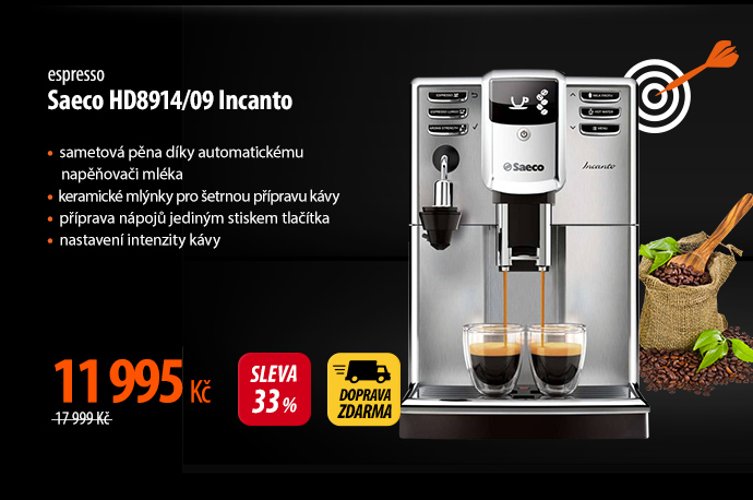 Kávovar Saeco HD8914/09 Incanto