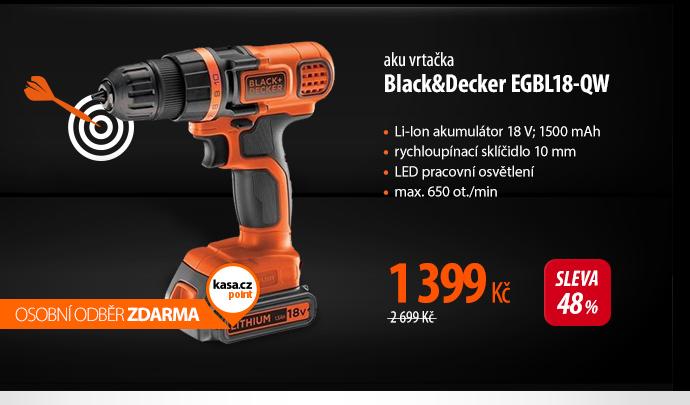 Aku vrtačka Black&Decker EGBL18-QW