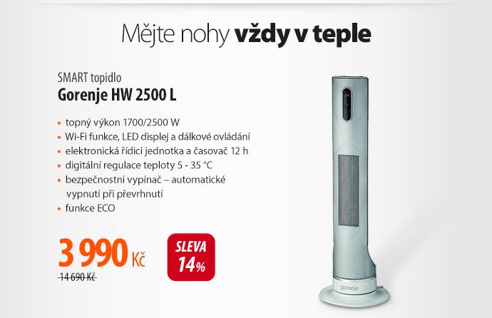 Smart topení Gorenje HW 2500 L